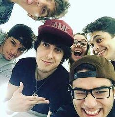 Lindos <3 Felipe Castanhari, Daniel Molo, Lukas Marques, Malena, Lucas Lira e Christian Figueiredo