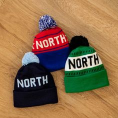 Youth North Stocking Hat - Red/Royal
