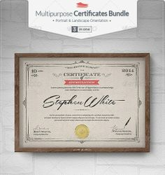 Here we have collected best Free and Premium Certificate Template which you can use in your print projects Certificate Maker, Certificate Design, Certificate Templates, Print Templates, Psd Templates, Brochure Template, H Brothers, Career Day, Soccer