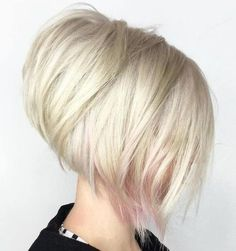 White Blonde Layered Stacked Bob