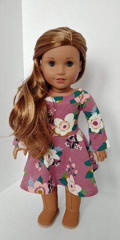 Excited to share the latest addition to my #etsy shop: 18 inch doll clothes. American girl doll. 18 inch doll clothing .Trendy spring or summer Dress https://etsy.me/2HJLjf6