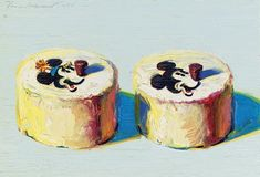 View Mickey and Minnie cakes by Wayne Thiebaud on artnet. Browse upcoming and past auction lots by Wayne Thiebaud. Wayne Thiebaud Cakes, Wayne Thiebaud Paintings, Mickey And Minnie Cake, Minnie Mouse Cake, Mickey Cakes, Pop Art Movement, Cloud Shapes, Painted Cakes, Art Birthday