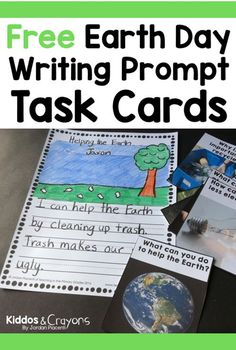 Help your students think about ways they can help the environment with these free Earth Day informational and opinion writing prompt task cards.