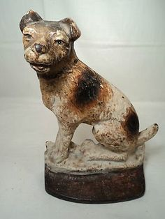 Cast iron dog door stop, 1930 Dog Door Stop, Original Vintage, Antique Show, Door Accessories, Vintage Iron, Iron Doors, Animals Images, Mans Best Friend, Decoration