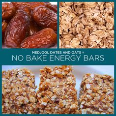 Medjool Dates + Oats = No Bake Energy Bars