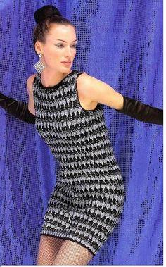"""Patrones para Crochet: Patron Crochet Vestido """"Hepburn"""" ... diagram"""