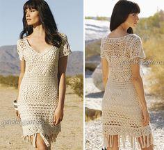 Openwork crochet dress Ballad of the Wild West.  Many schemes, patterns