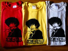 Cowboy Bebop Spike Spiegel Inspired Screenprinted by mosaicshirts