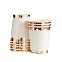 Rose Gold Party Paper Cups ,Party Cups ,modern party Cups ,party paper cups, rose gold paper cups,rose gold party,rose gold cups,pretty cups by PrimAndParty on Etsy