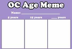 OC Age Meme by LitaOliveira on DeviantArt Art Style Challenge, Oc Challenge, Drawing Challenge, Drawing Reference Poses, Drawing Poses, Drawing Tips, Drawing Meme, Drawing Prompt, Character Sheet Template
