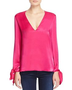 Elizabeth and James Astrid Tie-Cuff Blouse - 100% Bloomingdale's Exclusive