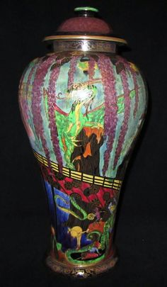 Wedgwood Fairyland Lustre Malfrey Pot by WEDGWOOD FAIRYLAND LUSTRE - AD Antiques