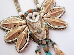 Owl In Flight Necklace $105.00 USD