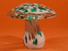 Murano art glass mushroom