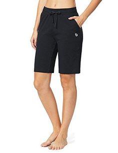 Women's Active Shorts - Baleaf Women's Active Yoga Lounge Bermuda Shorts with Pockets: Clothing Yoga Shorts, Running Shorts, Nike Shorts, Jean Shorts, Workout Wear, Workout Shorts, Lounge Shorts, Shorts With Pockets, Summer Shirts