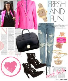 Fresh & Fun feat. our Smoking Blazer. See the look here: http://stylesets.dailylook.com/sets/130773/s/8/o/4