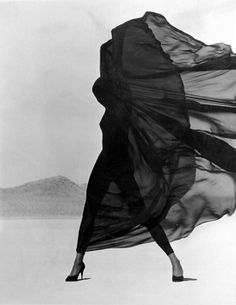 Versace Veiled Dress (1990) - Photograph by Herb Ritts