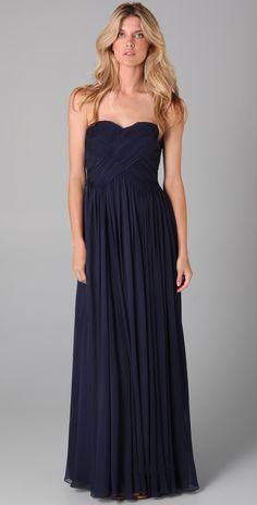 Tibi Strapless Gown