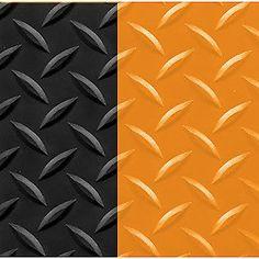 "4' x 75' Supreme Diamond Foot 11/16"" Black/Orange"