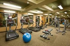 Fitness Center with weight training, cardio equipment and dry sauna open 24 hours. fitness-train-with-the-irondog