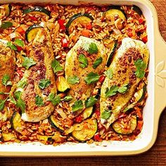 Tandoori Spiced Chicken and Rice Bake From Better Homes and Gardens, ideas and improvement projects for your home and garden plus recipes and entertaining ideas.