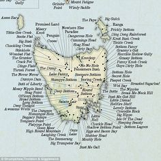 A map showing all the funny town names in Tasmania Australia Australia Funny, Australia Map, Western Australia, Funny Place Names, Tasmania Road Trip, Tasmania Travel, Van Diemen's Land, Town Names, Fun Places To Go
