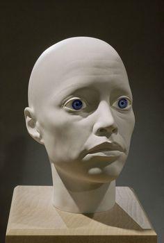 Head sculpture by artist Elizabeth King.