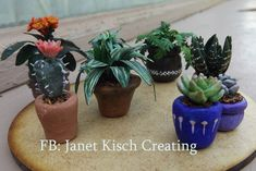 potted plants 1/12th scale