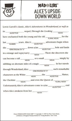 Upside-Down Mad Libs | Additional photo (inside page)                                                                                                                                                                                 More