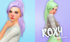 Roxy hair recolors at Holosprite via Sims 4 Updates  Check more at http://sims4updates.net/hairstyles/roxy-hair-recolors-at-holosprite/