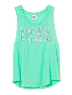 Boyfriend Tank - PINK - Victoria's Secret Victoria Secret Pink, Victoria Secrets, Victoria Secret Outfits, Looks Lindos, Pink Outfits, Cute Outfits, Pretty In Pink, Pink Love, Cute Fashion