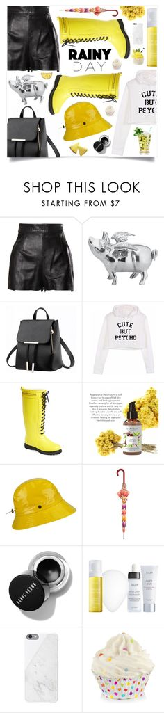 """Splish Splash: Rainy Day Style"" by violet-peach ❤ liked on Polyvore featuring Moschino, Lunares, Ilse Jacobsen Hornbaek, Karen Kane, Missoni, Julep, Silken Favours and rainyday"
