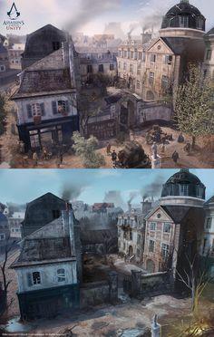 ArtStation - Assassin's Creed Unity /// Café théâtre exterior , David Alvarez