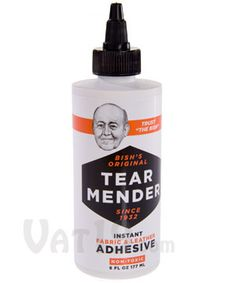 With Tear Mender Instant Fabric and Leather Adhesive, you can fix tears, cuts, holes, and snags in nearly any fabric (including leather) in a matter of minutes. Tent Trailer Camping, Pop Up Tent Trailer, Tent Trailers, Camping Hammock, Camping Glamping, Travel Trailers, Leather Repair, Popup Camper, Camping Organization