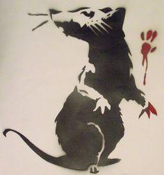 Banksy Rat 2 by ~Kitkatisyum on deviantART