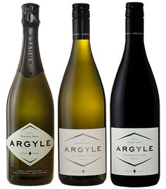 Argyle Winery sparkling wines. Fun Fact: When the Clintons were in the White House, Hillary's favorite was a sparkling wine from Argyle.