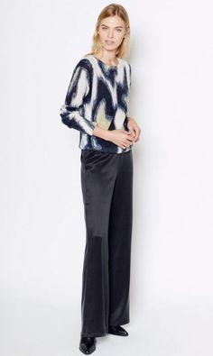 EQUIPMENT Shirley Crew Neck Long Sleeve Sweater Pullover Cheetah Print S $278 #EQUIPMENT #Crewneck