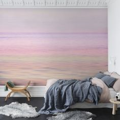 This lovely romantic wallpaper from our Spectrum range would undoubtedly go well in a bedroom but romance should not be contained, so consider your salon or dining area. The fabulous layers of colour in this remarkable mural change with the angles of light, creating a gently flow to the scene. The colour spectrum of pink, purple and blue merges and separates with the ripples on the water, so no one colour overwhelms. A gentle and romantic mural but not overtly feminine, will certainly add a…