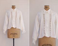 un chemisier blouse des années 1910  Vintage par GoldenCraneVintage