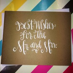 Sweet Sayings Handwritten Note Card  Wedding by allshewrotenotes, $3.00