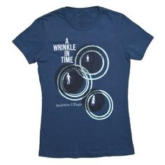 Out of Print presents this indigo T-shirt featuring artwork from the first edition 1962 cover of A Wrinkle in Time by illustrator Ellen Raskin. Madeleine L'Engle fans will love showing off their favorite work!  Out of Print also partners with Books in Africa, a charity that donates books to communities in need; one book will be donated for each shirt purchased.