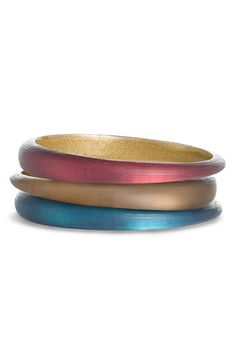 Alexis Bittar, Skinny Tapered Bangle.  Need all the colors, love how they glow.