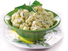 Finland Week: Potato salad with sour cream, blue cheese, arugula and apple. (Finnish recipe from Valio) Finnish Cuisine, Finland Food, Southern Style Potato Salad, Finnish Recipes, Clean Eating Salads, Scandinavian Food, No Salt Recipes, Dinner Sides, Fruits And Veggies