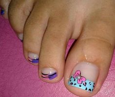 Cute Pedicures, Manicure And Pedicure, Sexy Nails, Fancy Nails, Toe Nail Art, Toe Nails, Pedicure Designs, Nail Designs, You Nailed It