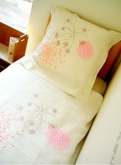 FIREWORKS LINEN BED COVER BY MAISON GEORGETTE