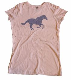 Next Level Apparel Horse Mare Pink Novelty Top Womens Tshirt Shirt - SZ Large #NextLevel #BasicTee