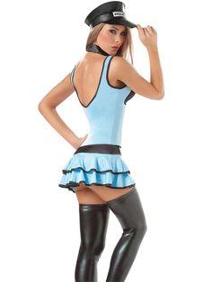 Sexy Halloween Costume, Sexy Traffic Cop Halloween Costume ...