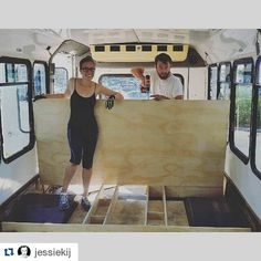 #throwback to the four days @jessiekij and @mgarsteck camped out at #homedepot day one.  WE BUILT A THING! Boxed in the #wheelwell first bookshelf screwed down.  #bus #busconversion #RV #ontheroad #offthegrid #instyle #sustainability #tinyhousemovement #livingthedream #design #building #rvlife #skoolie #vanlife #buslife #wanderlust #travel #explore #love #solar #compost #green #diesel #Chevy #trailblazer #tinyhouse #vagabond by greenbehindthegears
