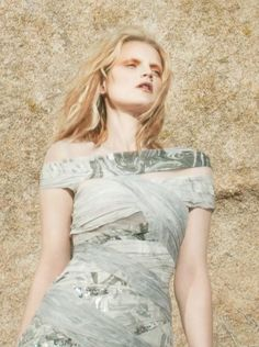 Rodarte Guinevere van Seenus wears Rodarte's FW09 Dress in Purple Magazine (photo by David Benjamin Sherry).