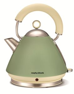 Accents Sage Green Traditional Kettle | Want this for my olive and cream kitchen
